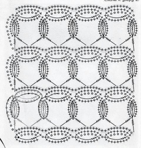 Интересный узор крючком