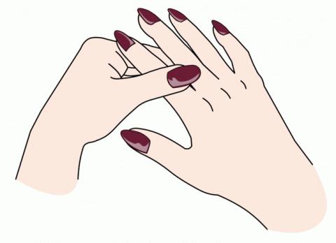 Массируя палец по 1 минуте в…