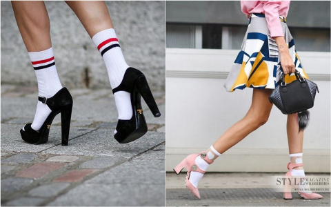 Когда носочки и обувь отлично сочетаются