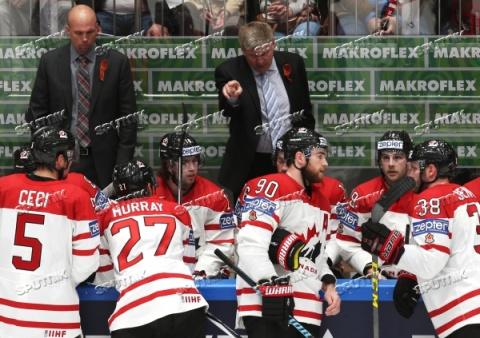 Тренеры канадской хоккейной сборной надели георгиевские ленточки (ФОТО)