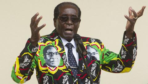 Президент Зимбабве Роберт Му…