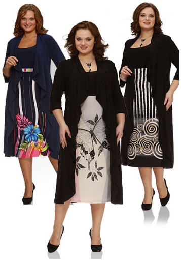 Модели платьев для полных женщин 60 лет