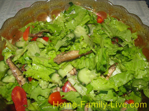 Салат из шпрот