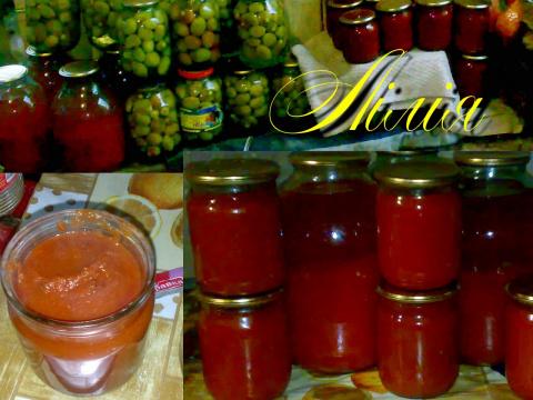 Томатный сок и соус от Лилии
