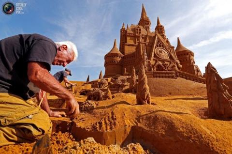 Фестиваль песчаных скульптур «Disney Sand Magic» в Бельгии