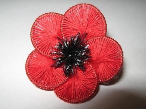 цветок из ниток и проволоки