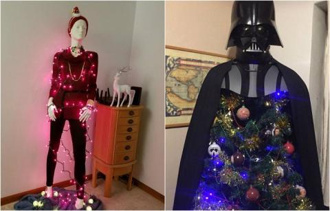 Новогодний креатив: 20 необычных праздничных елок, которые далеки от классических стандартов
