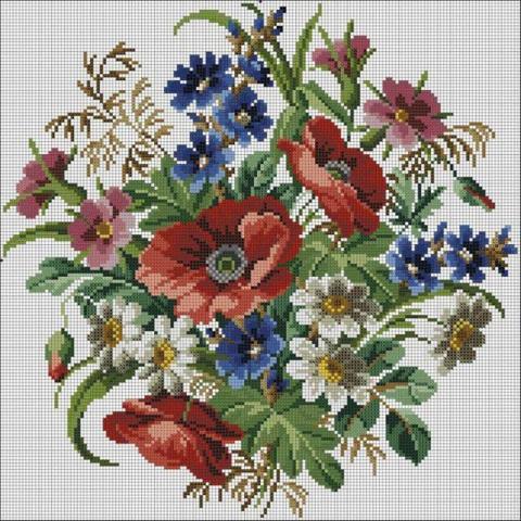 ВЫШИВАЙКА. Полевые цветы. Схемы