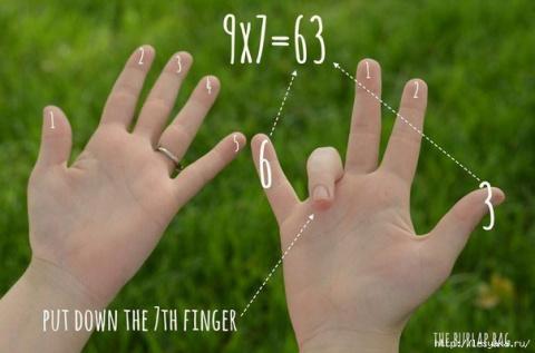 Как легко выучить умножение на девять