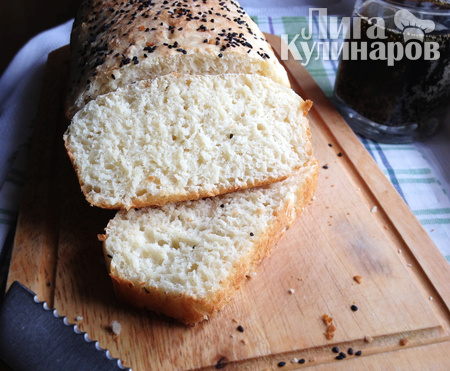 Хлеб без замеса на сыворотке