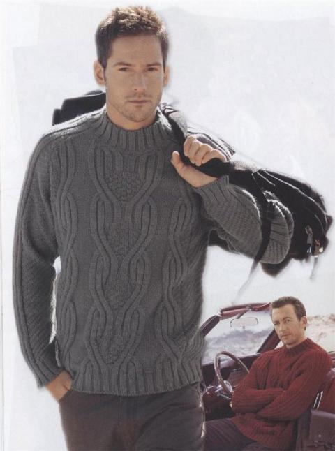 Темно-серый мужской пуловер
