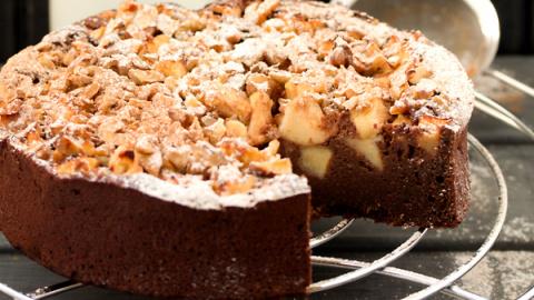 Яблочно-шоколадный пирог: ре…