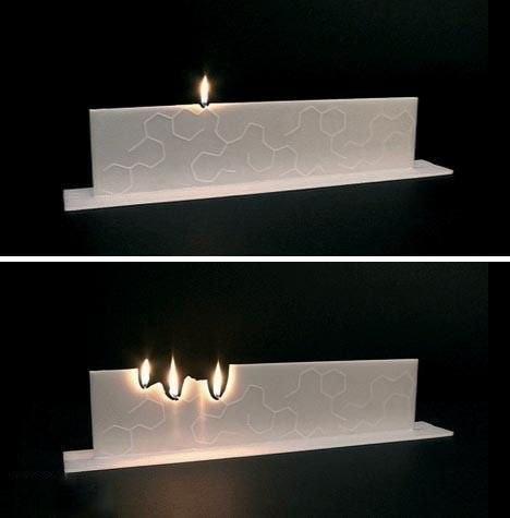 Из одной свечки - много свечек...))