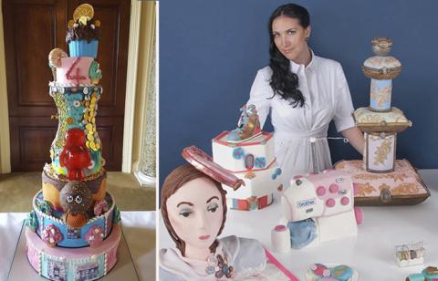 Торт за полмиллиона для любимого чада: Кондитер украшает детские десерты алмазами и бриллиантами