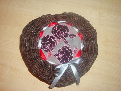 шкатулка в виде сердца с батиком