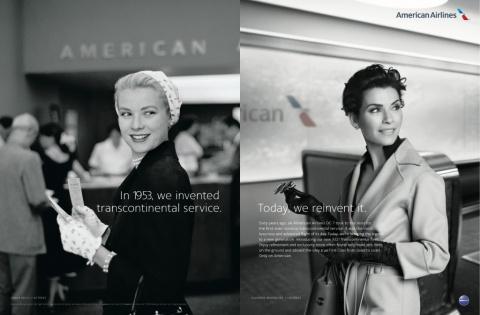 American Airlines выпустили рекламу с фото звезд 60-летней давности