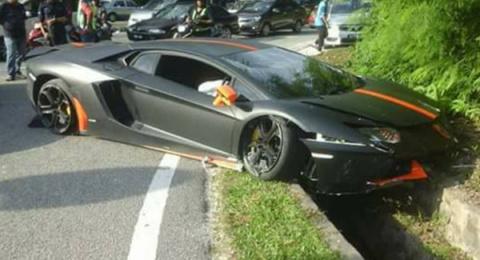 Lamborghini Aventador разбили в Малайзии