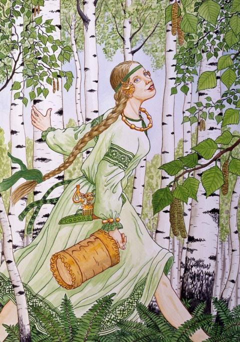 Женский образ русской природы в иллюстрациях Николая Фомина