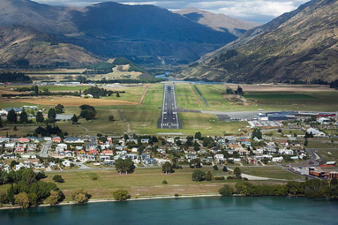 Виды Новой Зеландии из кабины самолета