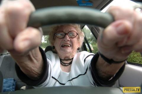 Бабка за рулем