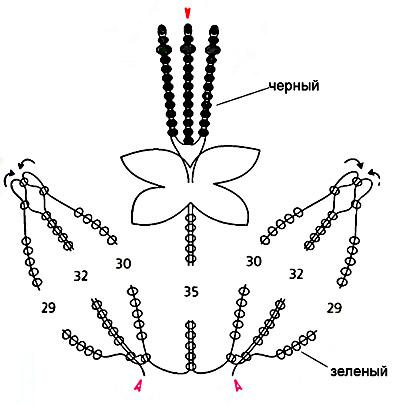 И цветы из бисера из инета поделки из