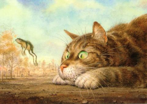 Питерские коты: акварельные …