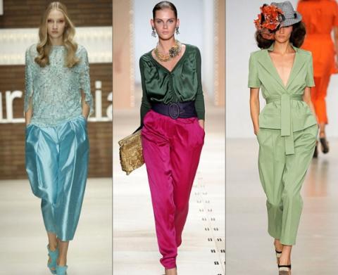 """Четыре выкройки популярных моделей брюк! Узоры вязания: """"цветущая верба"""" и """"плетенка"""""""