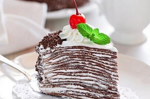 Торт из шоколадных блинов с …