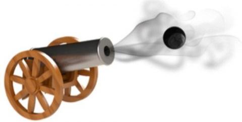 Крошечные орудия ведут огонь…