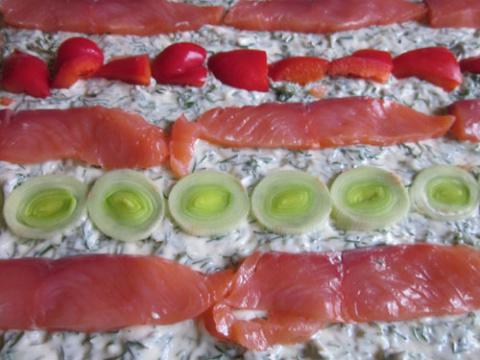 Рулетики с красной рыбой