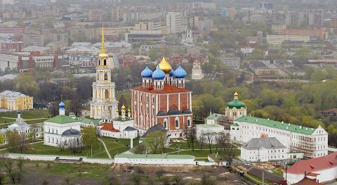 Рязанский кремль. Вид с воздушного шара.