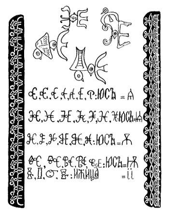 Церковно-славянские буквы