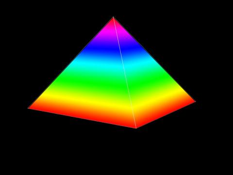Цветная пирамида