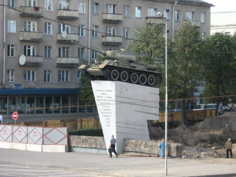 Танк на советской