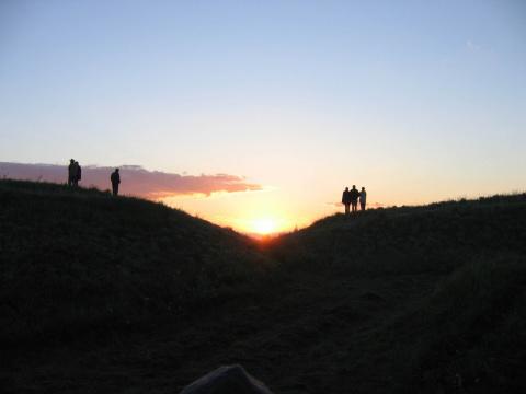 Восход Солнца на Маввринском майдане 24.06.2005