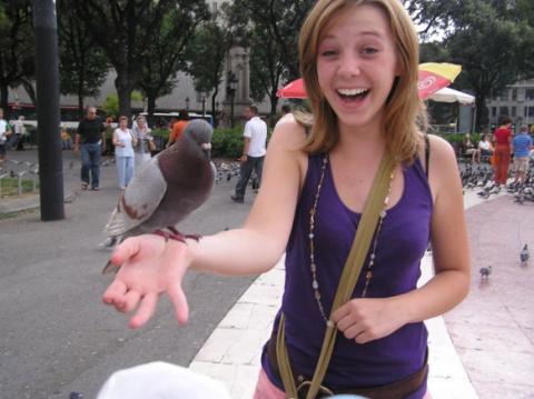 Я и голуби :)