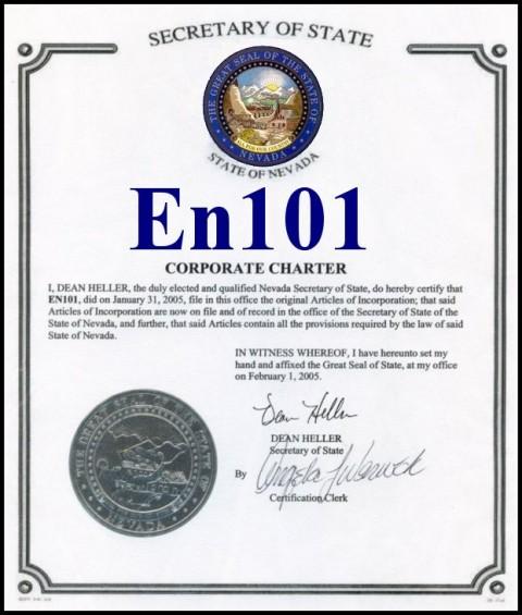 Сертификат компании En101