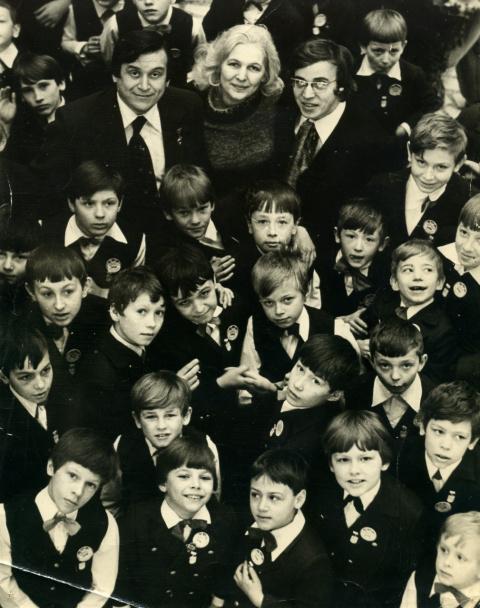 Хор мальчиков на гастролях в г. Красноярск - март 1979 года.