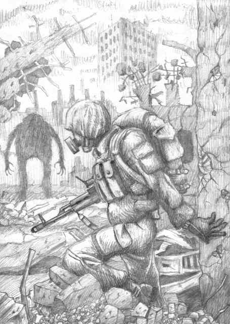 Картинки метро 2033 карандашом для срисовки