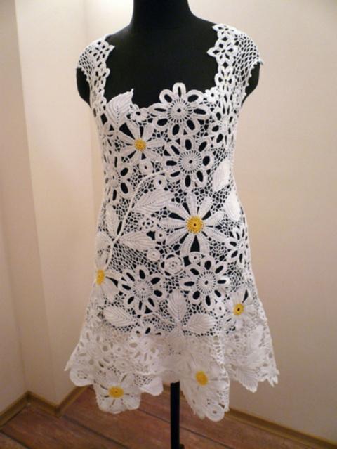 Платье Наборным Кружевом 39