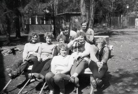 1982 вожатые в мае Подготовка к открытию