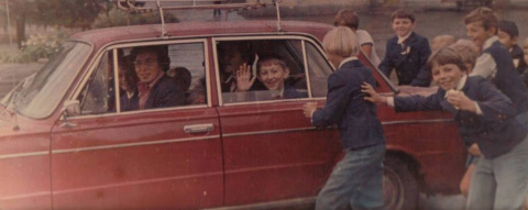 После занятий возле Дворца им. Ленина - г. Владивосток 1978 г.