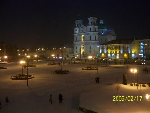 Немножко снега на Советской.
