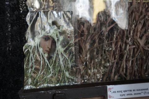 это лилии оплели Лик Богородицы