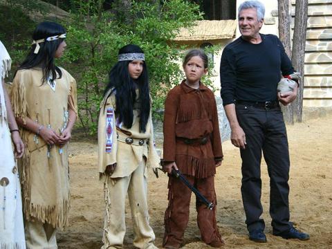Гойко Митич на детском индейском фестивале