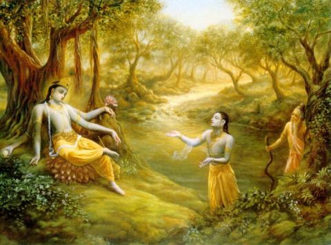 Кришна дает наставления Уддхаве