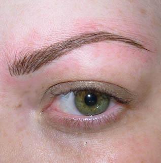 Бровь волосковая техника увеличить