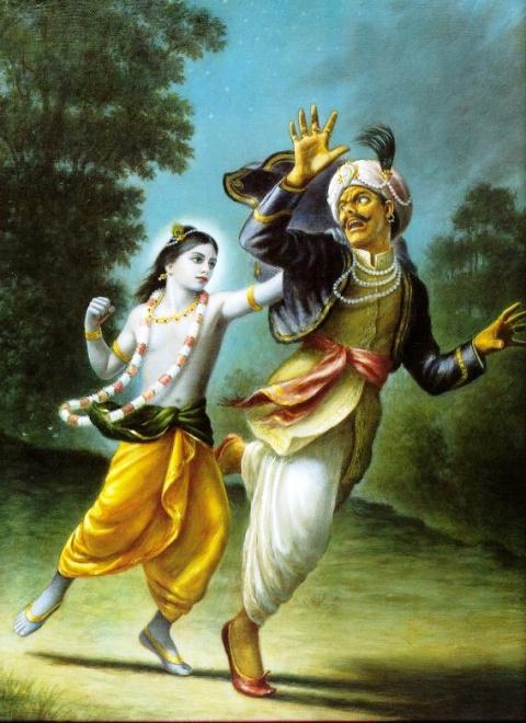 Кришна убивает демона