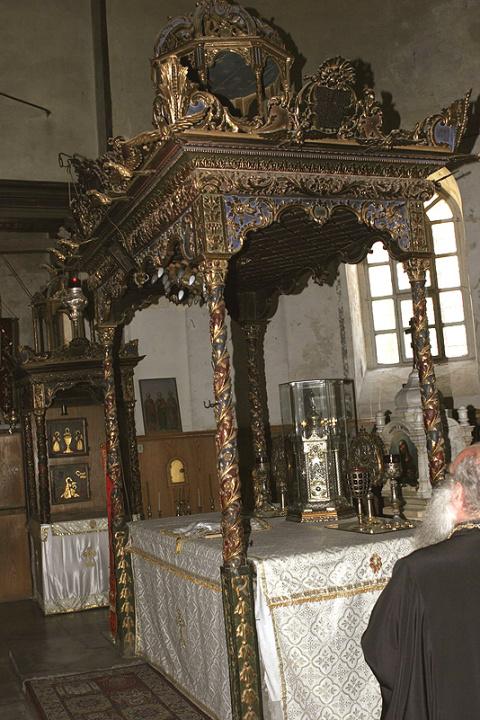 Сень над Престолом в храме Рождества Христова в Вифлееме