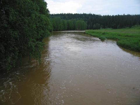 Река Кизел в районе Расика